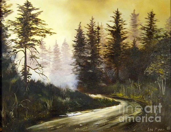 Sunrise In The Forest Print by Lee Piper