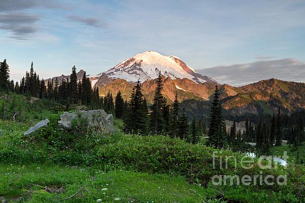 Michael Russell - Sunrise Light on Mount Rainier