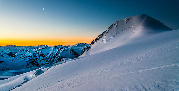 Sunrise On Mount Garibaldi Print by Ian Stotesbury