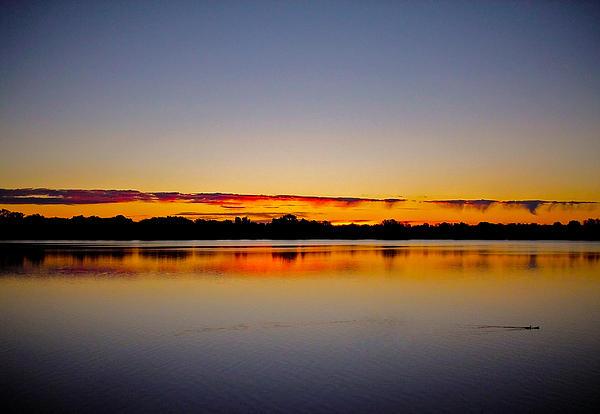 Sunrise On Riviere Des Mille-iles Print by Juergen Weiss