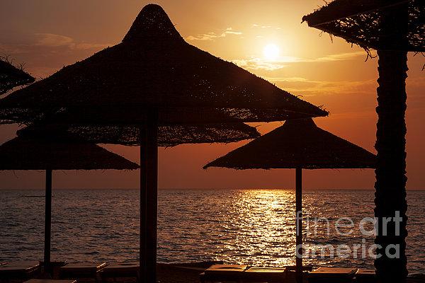 Sunrise On The Beach Print by Jane Rix