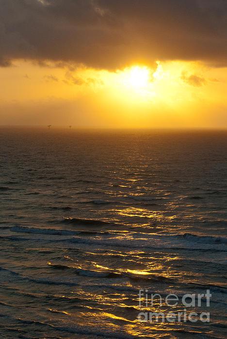 Sunrise On The Gulf Print by Barbara Shallue