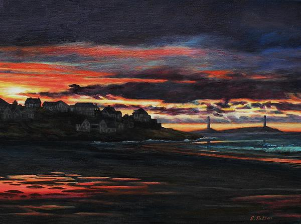 Eileen Patten Oliver - Sunrise Over Good Harbor Beach