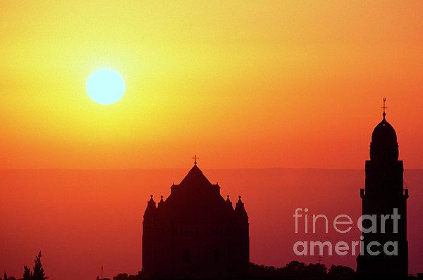 Sunrise Over Jerusalem Print by Thomas R Fletcher