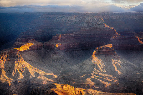 Sunrise Over The Canyon Print by Lisa  Spencer