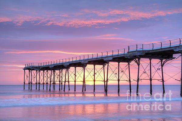 Sunrise Pier Print by Colin and Linda McKie