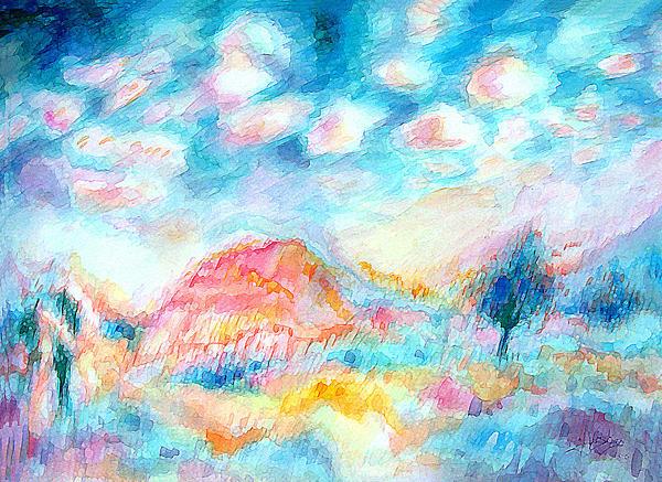 Sunrise  Print by Vagik Iskandar