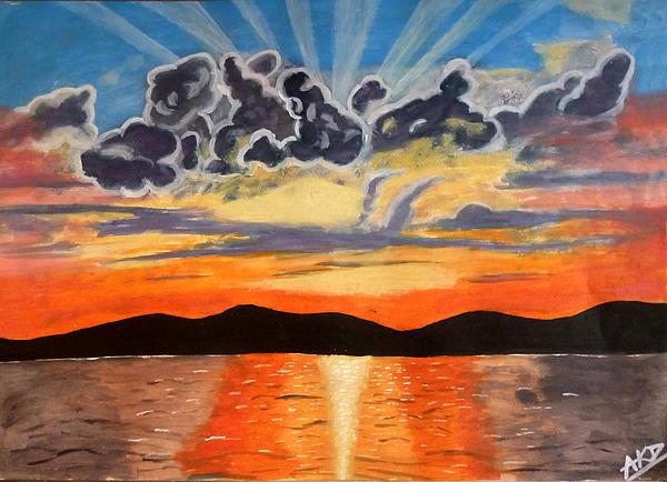 Sunset  Print by Abhinav Krishna Dwivedi