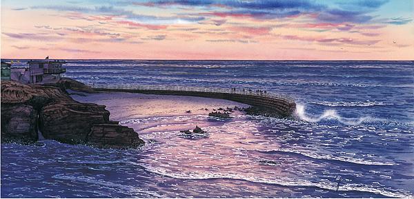 Sunset At Children's Pool Print by John YATO