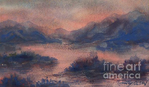 Joy Nichols - Sunset at Lake Champlain