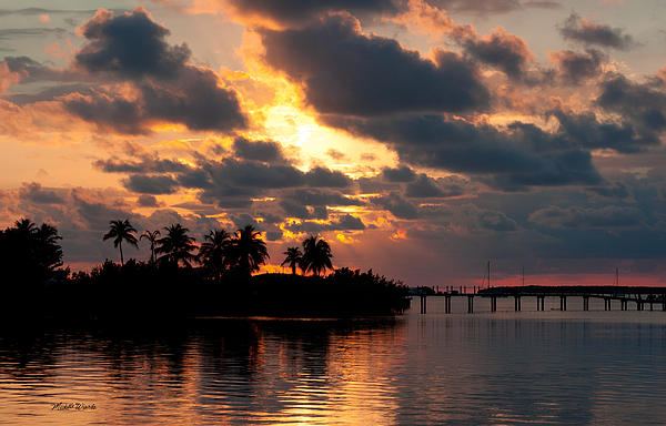 Sunset At Mitchells Keys Villas Print by Michelle Wiarda