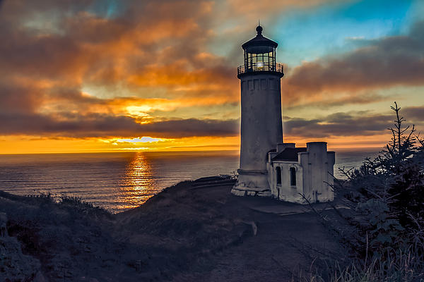 Sunset At North Head Print by Robert Bales