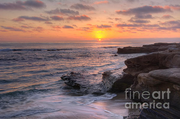 Sunset At Windansea Beach Print by Eddie Yerkish