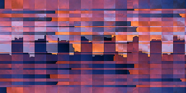 Sunset City Print by Ben and Raisa Gertsberg