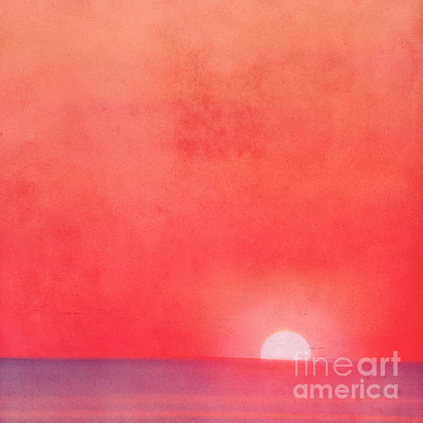 Sunset Impression Print by Angela Doelling AD DESIGN Photo and PhotoArt