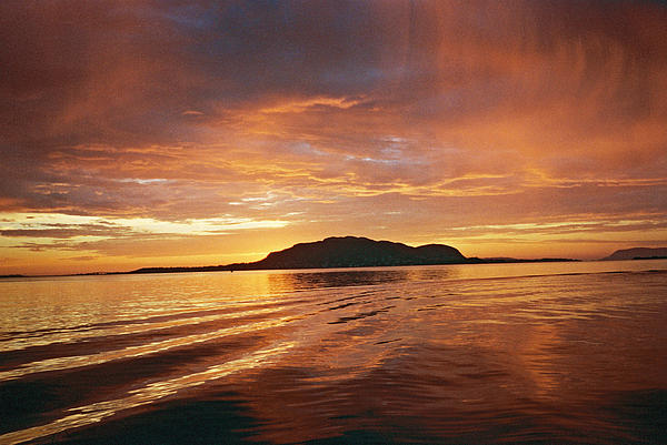 Sunset In Alesund Print by Christine Rivers