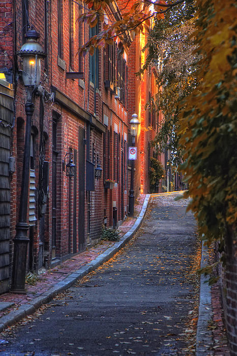 Sunset In Beacon Hill Print by Joann Vitali