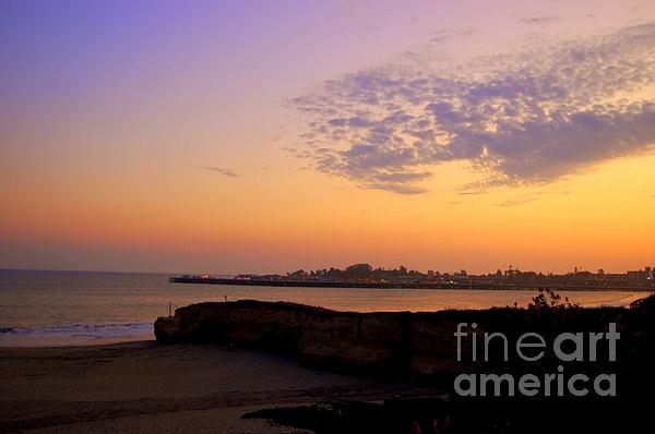 Sunset In Santa Cruz California Print by Garnett  Jaeger