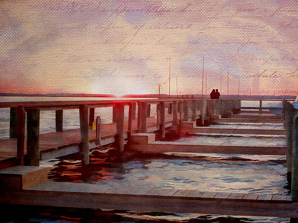Sunset Memories From Chincoteague Print by Julia Springer