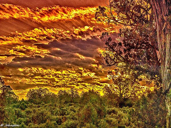 Sunset Navajo Tribal Park Canyon De Chelly Print by  Bob and Nadine Johnston