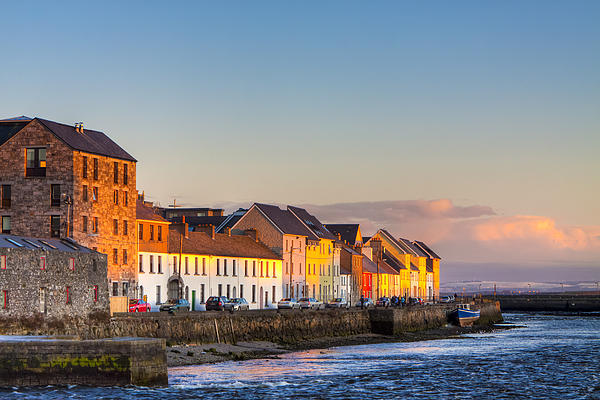 Sunset On A Beautiful Winter Day In Galway Ireland Print by Mark E Tisdale