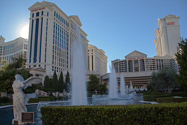 Sunset On Caesar's Palace Print by Natural Focal Point Photography