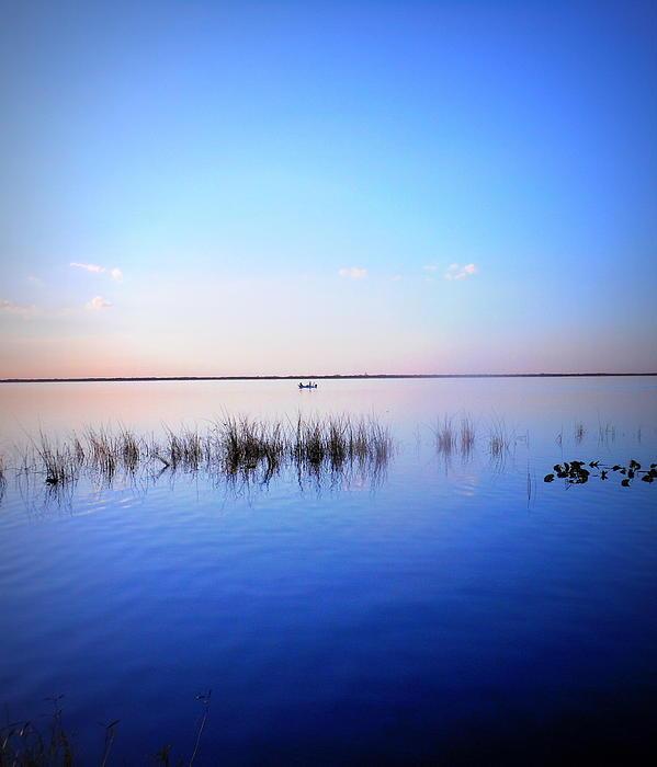 Sunset On Lake Washington 2 Print by Kay Gilley
