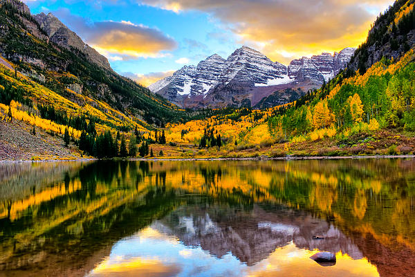 Rick Wicker - Sunset on Maroon Bells