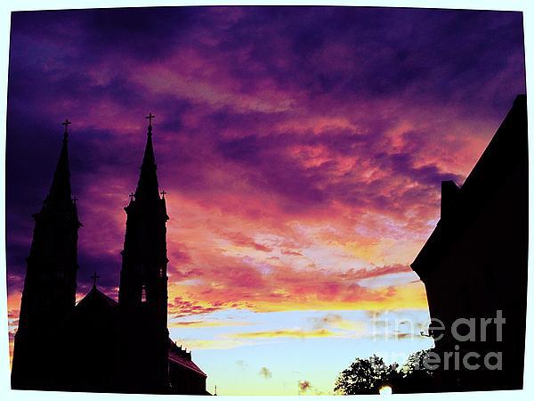 Sunset On The Basilica  Print by Garren Zanker
