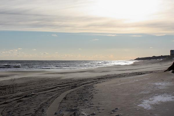 Sunset Over Atlantic Ocean In Montauk Print by John Telfer