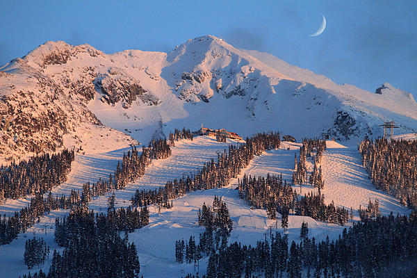 Sunset Over Blackcomb Mountain Print by Pierre Leclerc Photography