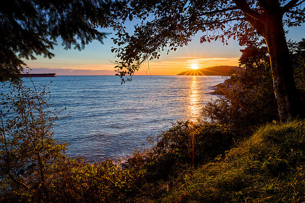 Sunset Over Lighthouse Park Print by Alexis Birkill