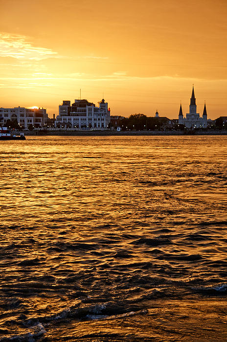 Sunset Over New Orleans Print by Patricia Sanders