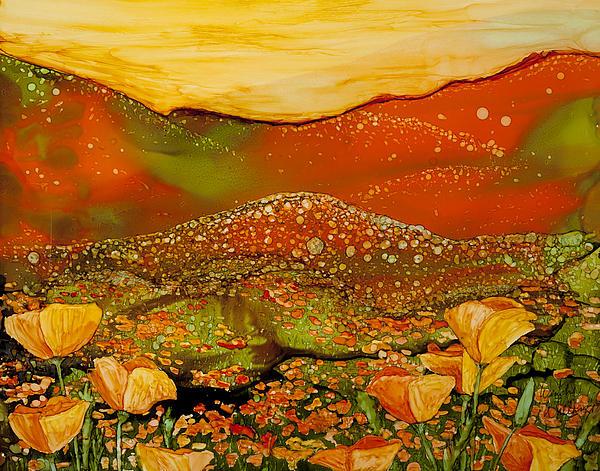 Sunset Over Poppy Ridge Print by Wendy Wilkins