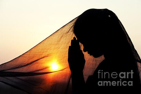 Sunset Prayers Print by Tim Gainey