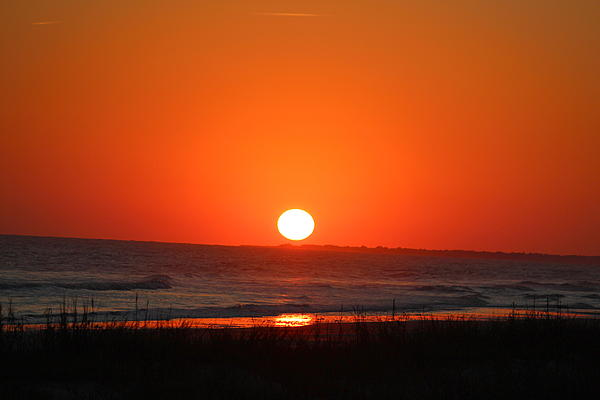 Sunset Red Print by Rosanne Jordan
