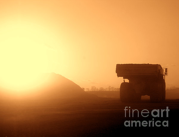 Sunset Truck Print by Olivier Le Queinec