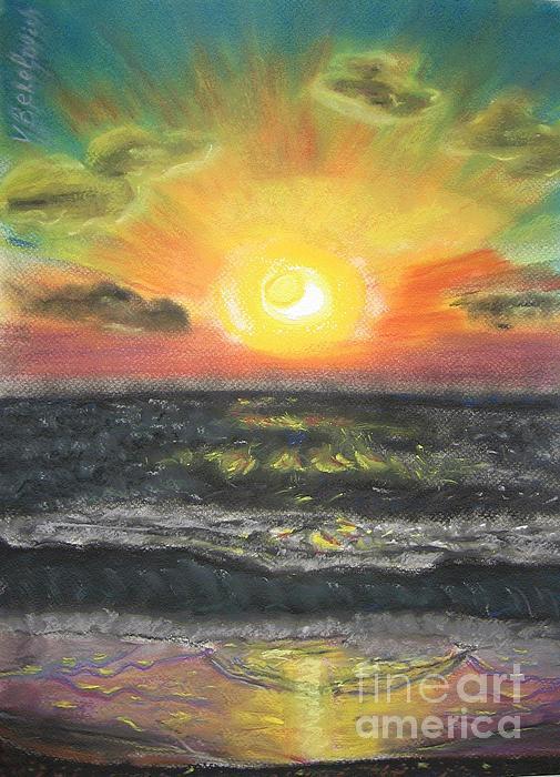 Sunset Print by Victor Berelovich