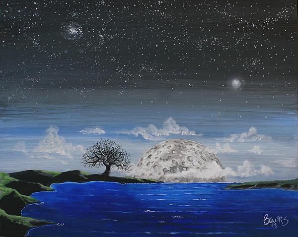 Super Moon Print by Jim Bowers