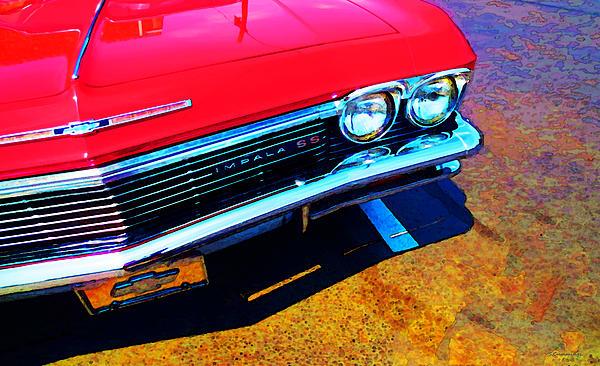 Super Sport 3 - Chevy Impala Classic Car Print by Sharon Cummings