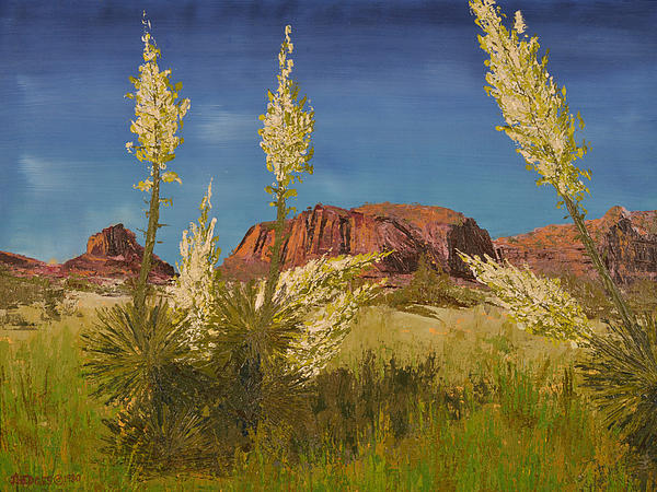 Superstition Mountain Print by Jack Hedges