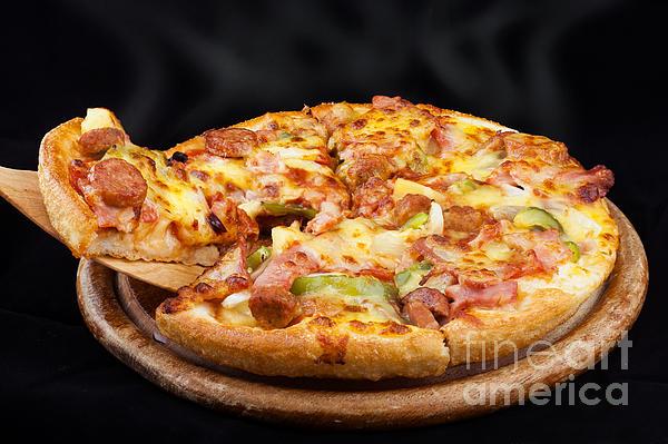 Supreme Hot Pizza  Print by Anek Suwannaphoom