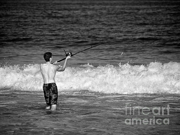 Surf Fishing Print by Mark Miller