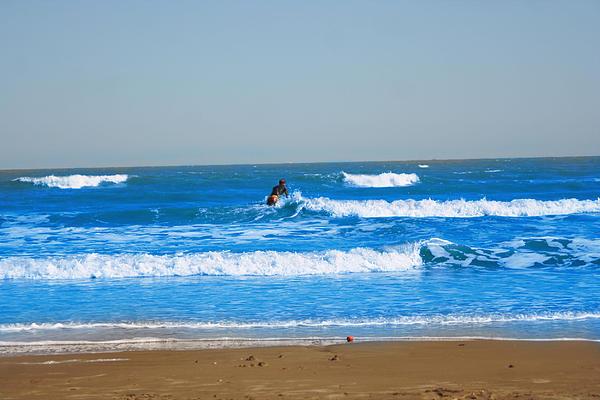 Surfer Print by Aaron Balderas