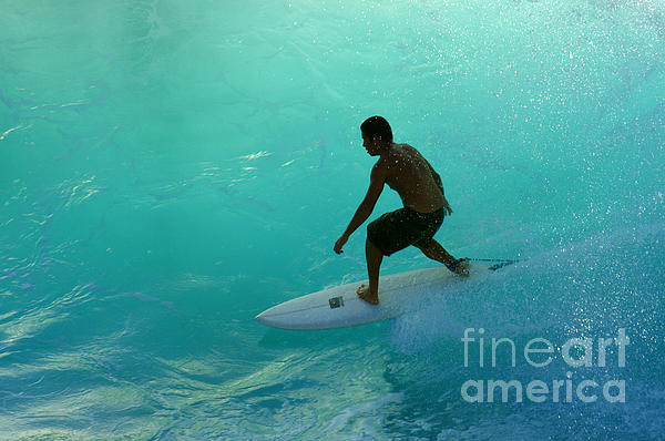 Surfer In The Zone Print by Bob Christopher