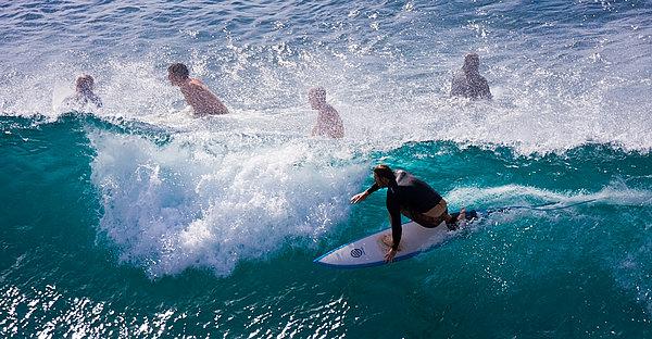 Surfing Maui Print by Adam Romanowicz