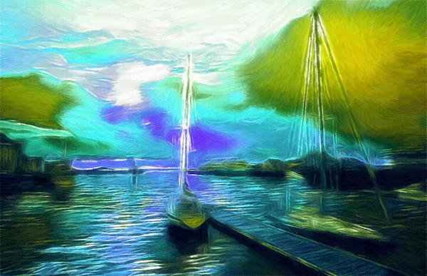Surrealism Sailor Pastel Print by Stefan Kuhn