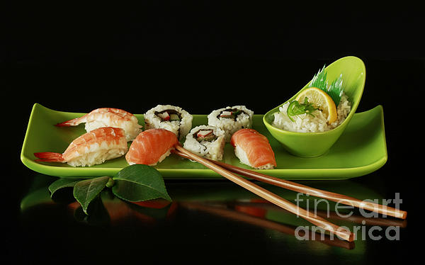 Sushi Seafood Indulgence Print by Inspired Nature Photography By Shelley Myke