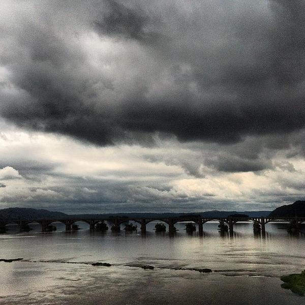 Susquehanna River Bridge Print by Toni Martsoukos