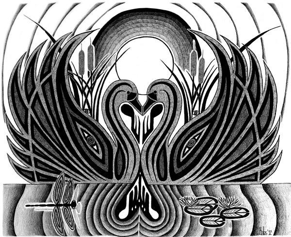 Swan Song  Print by Barb Cote